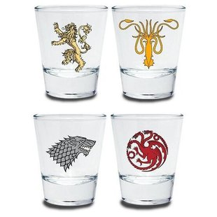 Набор стопок ABYstyle Game of Thrones emblem 50 мл, 4 шт
